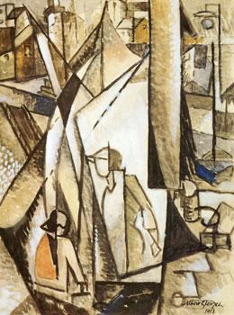 <em>Etude pour Les Bateaux de pêche</em>, 1913<br /> Aquarelle<br /> 64,5 x 49 cm<br /> Donation Georg Pauli, 1930 (inv. NMB 1247)