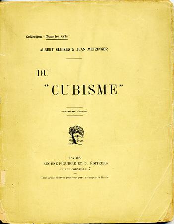 Couverture du livre d'Albert Gleizes et Jean Metzinger, <br /> <em>Du « Cubisme »</em>, 1912 (Lyon, musée des Beaux-Arts)