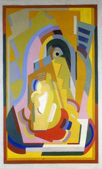 <em>Panneau décoratif pour la chambre de Jacqueline Rosenberg</em>, 1930-1931<br /> Huile sur toile<br /> 160 x 100 cm<br /> Donation Germaine Henry – Robert Thomas, 1976 (inv. AMVP 2418)