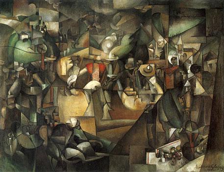 <em>Le Dépiquage des moissons</em>, 1912<br> Huile sur toile<br> 269 x 353 cm<br> Tokyo, musée national d'Art occidental