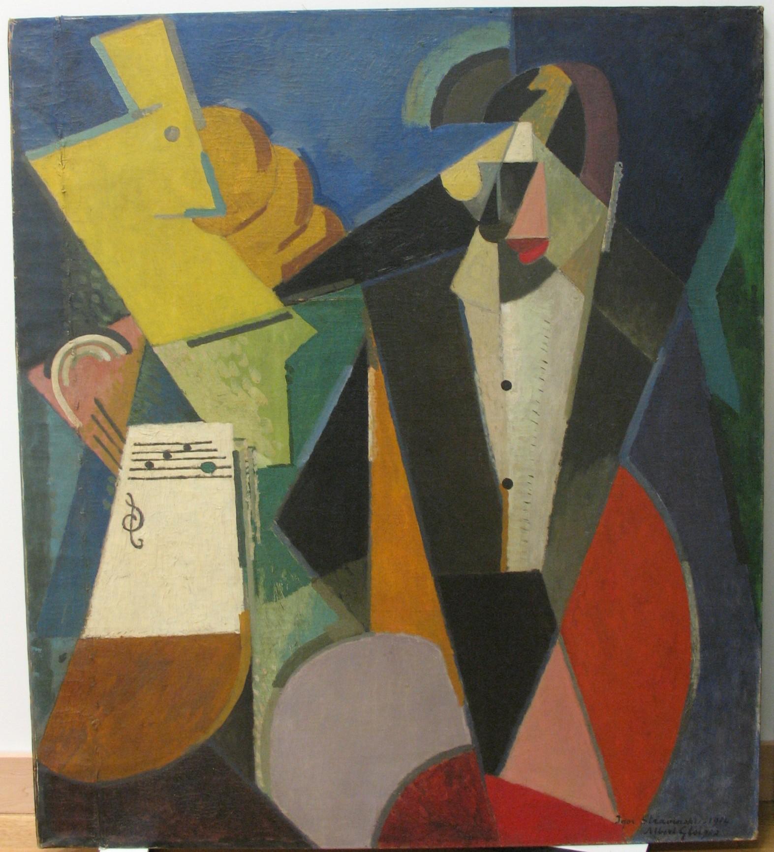 <em>Portrait d'Igor Stravinsky</em>, 1914<br /> Huile sur toile<br /> 129,5 x 114,3 cm<br /> New York, Museum of Modern Art<br /> Bequest of Richard S. Zeisler, 2007 (inv. 1447.2007)