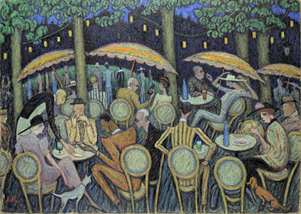 <em>Terrasse à Scossa</em>, 1936<br /> Huile sur carton<br /> 106 x 75 cm<br /> Paris, Fondation Albert Gleizes