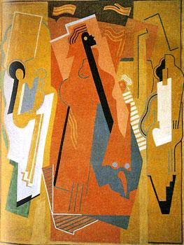 <em>Peinture à trois éléments</em>, 1925<br /> Huile sur toile<br /> 304 x 230 cm<br /> Acquis vers 1960 (inv. ADK 12400)