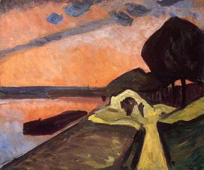 <em>Les Bords de la Marne</em>, 1909<br /> Huile sur toile<br /> 54 x 65 cm<br /> Lyon, musée des Beaux-Arts<br /> Photo Alain Basset