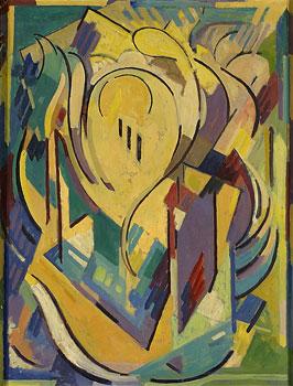 <em>Arabesque</em>, vers 1953<br /> Huile sur isorel<br /> 76 x 60 cm<br /> Lyon, musée des Beaux-Arts<br /> Photo Alain Basset