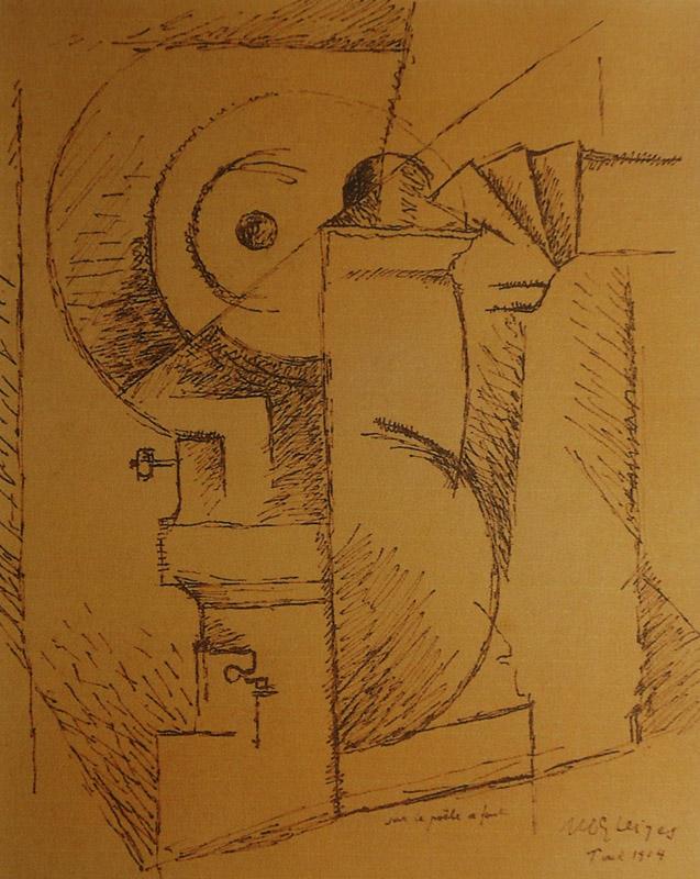 <em>Sur le poële en fonte</em>, 1914<br /> Encre et mine de plomb sur papier<br /> 25,2 x 18,2 cm<br /> Acquis en 2008 (inv. 2008.1)