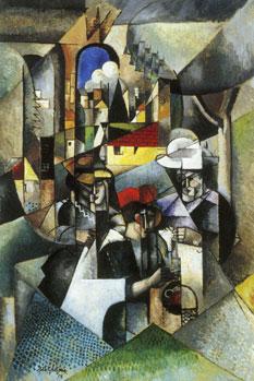 <em>Femmes cousant</em>, 1913<br /> Huile sur toile<br /> 185,5 x 126 cm<br /> Acquis en 1922 (inv. 185-22)