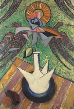<em>Nature morte au porron</em>, 1916<br /> Huile sur toile<br /> 116 x 82 cm<br /> Paris, Fondation Albert Gleizes