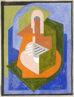 <em>Figure</em>, 1921<br /> Gouache sur papier<br /> 26,5 x 20,4 cm<br /> Legs André Dubois, 2004 (inv. 2005-16)