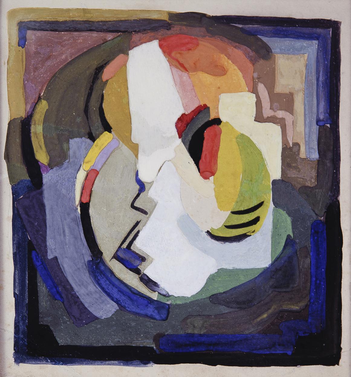 <em>Composition</em>, vers 1940<br /> Gouache sur carton<br /> 25,4 x 21,5 cm<br /> Acquis en 1988 (inv. D.1989.1)