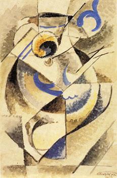 <em>La Cruche lorraine</em>, 1914<br /> Aquarelle sur papier<br /> 31,1 x 20,6 cm<br /> The Mr. and Mrs William Preston Harrison, 1926 (inv. 26.7.7)