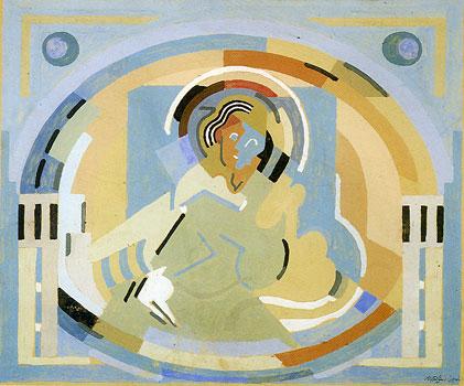 <em>Figure en gloire</em>, 1938<br /> Gouache sur carton<br /> 37 x 45 cm<br /> Saint-Rémy-de-Provence, Centre d'Art Espace Van Gogh