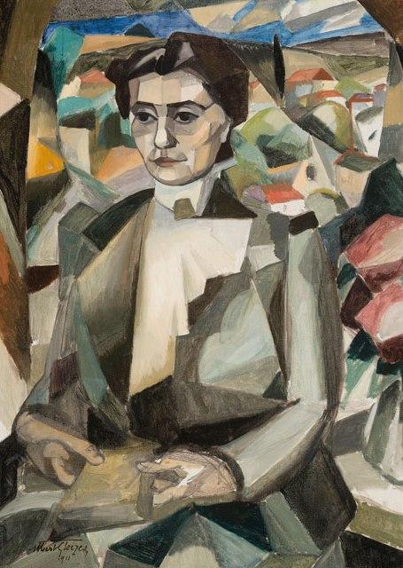 <em>Portrait d'Anne-Rose Barzun</em>, 1911<br />Huile et graphite sur toile<br />99 x 71 cm<br />Legs Jacques Barzun, 2012