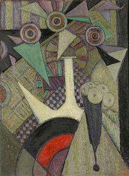 <em>Le Porron</em>, 1916<br /> Huile sur contreplaqué<br /> 61,7 x 45,8 cm<br /> Lyon, musée des Beaux-Arts<br /> Legs André Dubois, 2004<br /> Inv. 2005-27