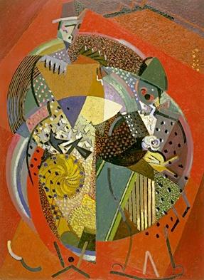 <em>Sur des clowns</em>, 1917<br /> Huile et sable sur toile<br /> 103 x 76 cm<br /> Acquis en 1937 (inv. AMVP 1061)