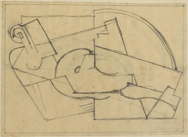 <em>Etude pour une femme couchée</em>, 1921<br /> Crayon sur papier<br /> 17,1 x 23,9 cm<br /> Acquis en 1978 (inv. AM 1978-292)