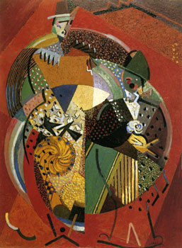 <em>Sur des clowns</em>, 1917<br /> Huile et sable sur toile<br /> 103 x 76 cm<br /> Paris, musée d'Art moderne de la Ville