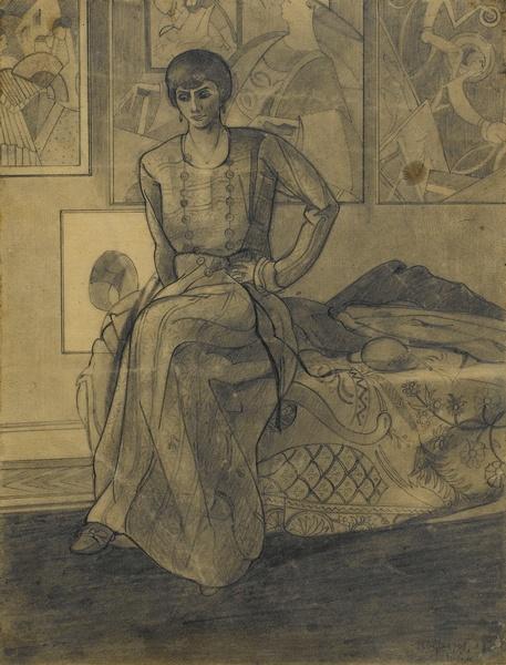 <em>Madame Walter Fleisher</em>, 1918<br /> Mine graphite sur papier<br /> 28,4 x 21,8 cm<br /> Acquis en 1975 (inv. AM 1975-285)
