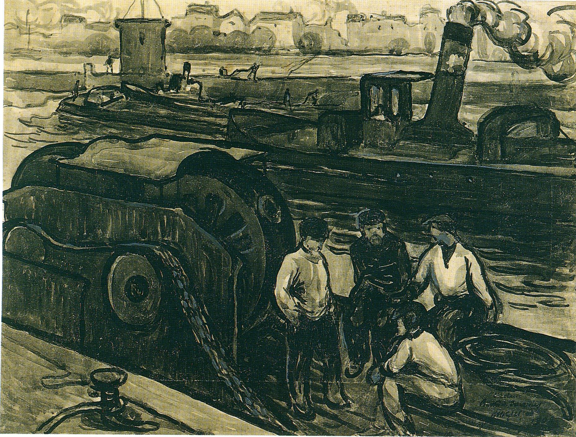 Albert Gleizes, <em>L'Ecluse de Suresne</em>, 1908 (Suresnes, musée d'Histoire urbaine et sociale)