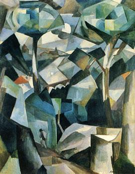 <em>Le Chemin, Meudon</em>, 1911<br /> Huile sur toile<br /> 147 x 115 cm<br /> Collection particulière