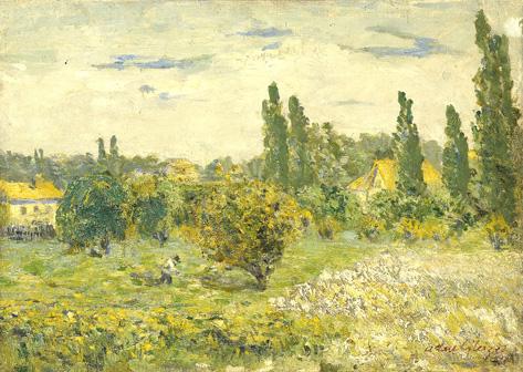 <em>Paysage de Courbevoie</em>, 1901 <br /> Huile sur toile<br /> 33 x 46 cm<br /> Legs André Dubois, 2004 (inv. 2005-11)
