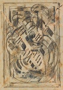 <em>Etude pour Les Pensées de Pascal</em>, vers 1948<br /> Encre bleu-vert au revers d'une enveloppe<br /> 13,6 x 9,8 cm<br /> Acquis en 1975 (inv. AM 1975-272)