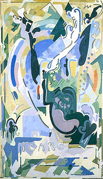 <em>Icare</em>, 1938-1939<br /> Huile sur toile<br /> 309 x 189 cm<br /> Don Robert L.B. Tobin, 1973 (inv. 1973-17-4)