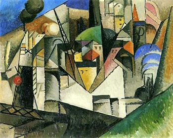 <em>Paysage</em>, 1914<br /> Huile sur toile 73,3 x 92,3 cm<br /> Gift of the Société Anonyme, 1941 (inv. 1941.485)