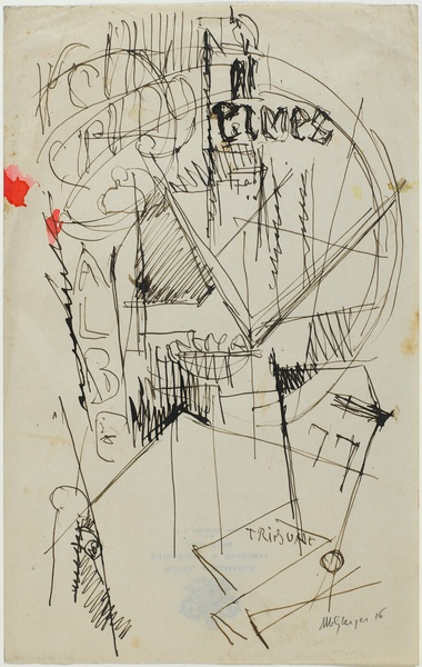 <em>Kelly Spring</em>, 1916<br /> Encre sur papier<br /> 24 x 15,1 cm<br /> Acquis en 1978 (inv. AM 1978-293)