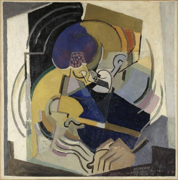 Albert Gleizes, <em>Le Chant de guerre</em>, 1915, huile sur toile (crédit photographique : © Centre Pompidou, MNAM-CCI/Philippe Migeat/Dist. RMN-GP)