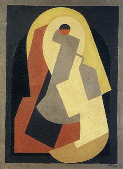 <em>Composition octogonale</em>, vers 1922<br /> Huile sur toile<br /> 89,5 x 69,5 cm<br /> Collection particulière
