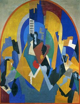 <em>Peinture pour une gare</em>, 1920 <br /> Huile sur toile<br /> 357 x 276 cm<br /> Don de l'artiste, 1927 (inv. MG 2428)