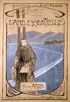 Projet de couverture pour<em> L'Âme essentielle de René Arcos</em>, vers 1907<br /> Crayon, gouache et lavis d'encre sur papier<br /> 36,4 x 25,4 cm<br /> Paris, Fondation Albert Gleizes<br /> Photo Alain Basset<br />