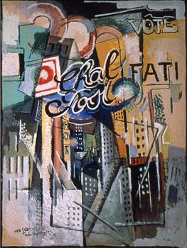 <em>Broadway</em>, 1915<br /> Huile et gouache sur carton<br /> 101,8 x 76,5 cm<br /> New York, Solomon R. Guggenheim Museum