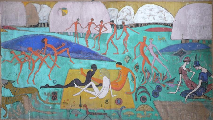 <em>American picnic</em>, 1917<br /> Huile sur toile<br /> 217 x 374,5 cm<br /> Paris, Fondation Albert Gleizes