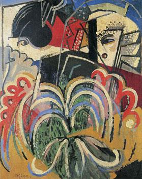 <em>Espagnoles à l'éventail</em>, 1916<br /> Huile sur toile<br /> 92 x 73 cm<br /> Collection particulière