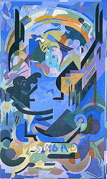 <em>Simbad</em>, 1939-1940<br /> Huile sur toile<br /> 308 x 189 cm<br /> Don Robert L.B. Tobin, 1973 (inv. 1973-17-3)
