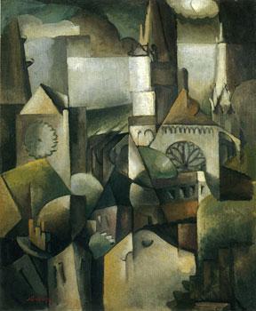 <em>Cathédrale</em>, 1912<br /> Huile sur toile<br /> 73,6 x 60,3 cm<br /> Hanovre, Sprengel Museum