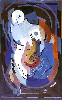 <em>Vierge à l'Enfant</em>, 1932-1934<br /> Huile sur toile<br /> 166 x 105 cm<br /> Don Juliette Roche-Gleizes, 1968 (inv. 22.704)