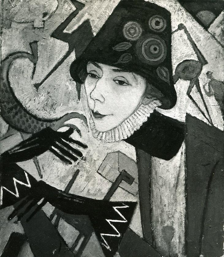 Juliette Roche, <em>Autoportrait</em>, vers 1917 (localisation inconnue)