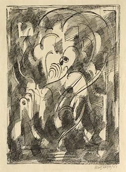 <em>Arabesque</em>, 1951<br /> Encre noire sur papier<br /> 17,5 x 12,5 cm<br /> Lyon, musée des Beaux-Arts<br /> Photo Alain Basset