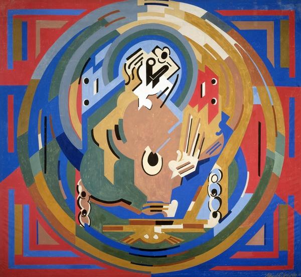 <em>Figure en gloire</em>, 1938<br /> Huile sur toile<br /> 582 x 585 cm<br /> Don du salon des Réalités nouvelles, 1939 (inv. AMVP 1686)