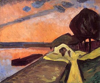 <em>Les Bords de la Marne</em>, 1909<br /> Huile sur toile<br /> 54 x 65 cm<br /> Don de Juliette Roche-Gleizes, 1954 (inv. 1954-118)