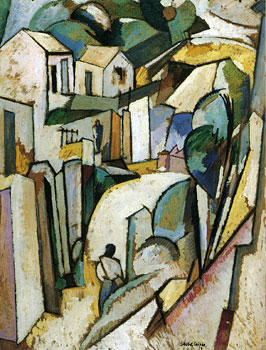 <em>Paysage des Bermudes</em>, 1917<br /> Huile sur carton<br /> 92 x 73 cm<br /> Acquis en 1947 (inv. AM 2702 P)