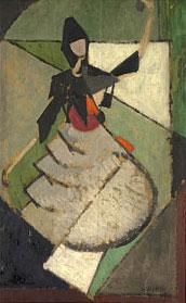 <em>Danseuse espagnole</em>, 1916<br /> Huile sur bois<br /> 57,5 x 36,5 cm<br /> Legs André Dubois, 2004 (inv. 2005-14)