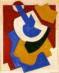 <em>Composition</em>, 1921<br /> Huile, aquarelle et lavis sur carton<br /> 26,4 x 21,4 cm<br /> Acquis en 1959 (I B)