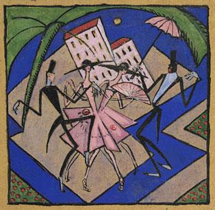 <em>Danseurs</em>, vers 1918<br /> Gouache sur papier<br /> Paris, Fondation Albert Gleizes