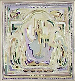<em>Vierge en majesté</em>, 1929<br /> Gouache sur papier<br /> 20 x 19 cm<br /> Attribution du Fonds national d'Art contemporain, 1938 (inv. AM 1358 D)