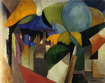 <em>Paysage près de Montreuil</em>, 1914<br> Huile sur toile<br> 73 x 92,5 cm<br> Sarrebrück, Saarland-Museum