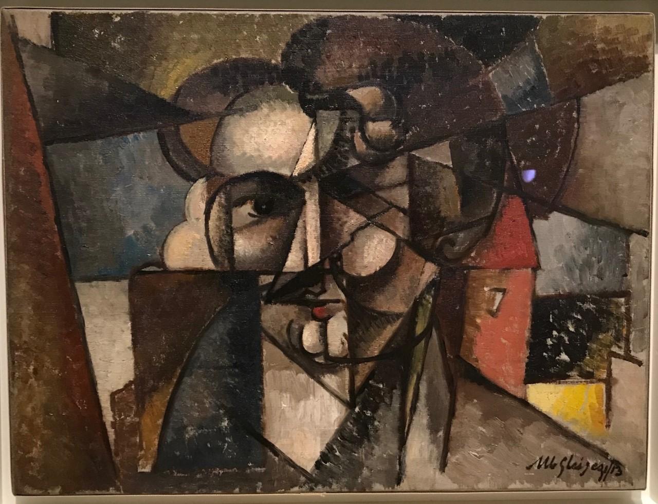 Albert Gleizes, <em>Tête d'un homme</em>, 1913, huile sur toile, 38 x 50,5 cm (New York, Solomon R. Guggenheim Museum)